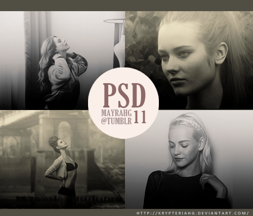 PSD 11→ DOWNLOAD+ Soft Sepia and b&w+ PLEASE like or reblog this post if you dowload <3