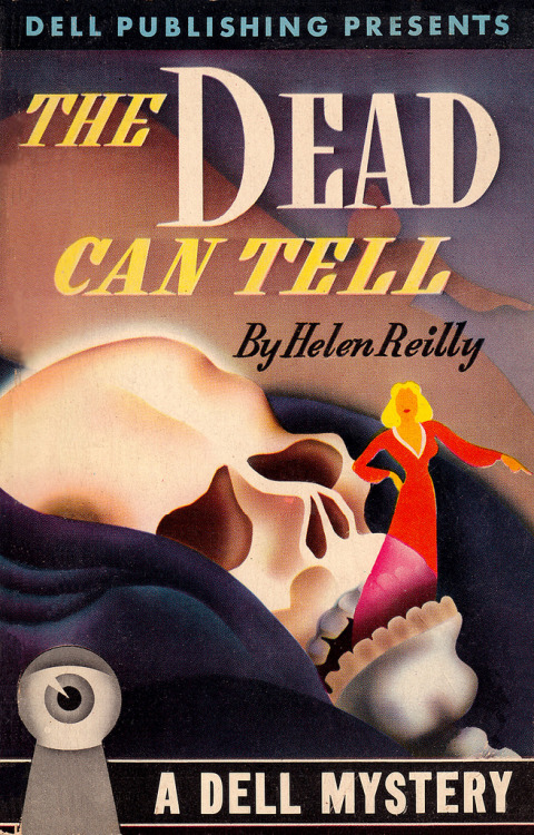 mudwerks:  The Dead Can Tell (by PopKulture)  Dell Books No. 17 -The Dead Can Tell by Helen Reilly, 1943 - cover by Gerald Gregg