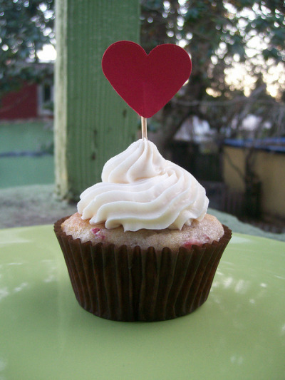 Red Heart cupcakes by JenAngel on Flickr.