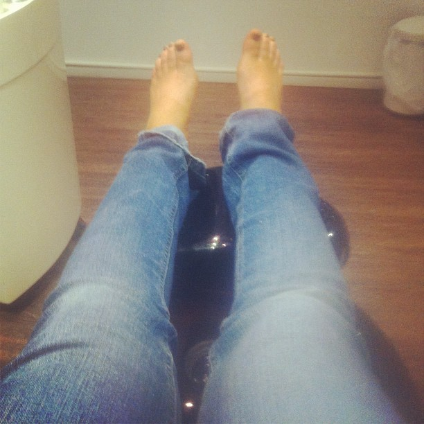 Manicure and pedicure before dinner tonight :)  (Taken with Instagram)