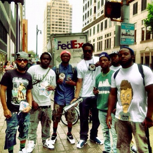 #tbt @gutta_becampin @ransomnotefym @305jp @fwaygod @markmc9 @unkleluc mobbin in texas sxsw… Can't wait for #A3C (Taken with Instagram)