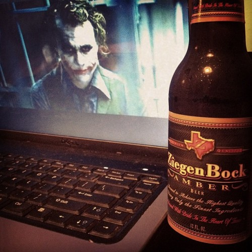 zeigenbock & batman. #holler #thedarkknight #goodnight #ripheath (Taken with Instagram)