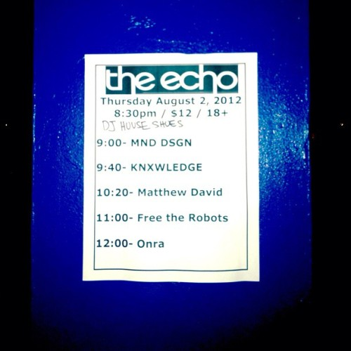 Live from Echo Park… (Taken with Instagram at The Echo)