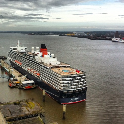 Good morning Queen Elizabeth - welcome to #Liverpool (Taken with Instagram at Pier Head)