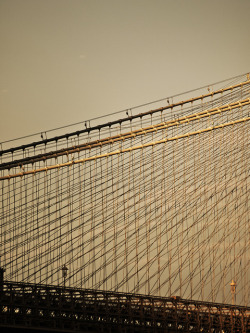 Brooklyn Bridge on Flickr. Spanning the East River and connecting New York City boroughs Manhattan and Brooklyn, the Brooklyn Bridge was the world's longest suspension bridge at the time of its 1883 completion, and the world's first steel-wire suspension bridge.Flickr