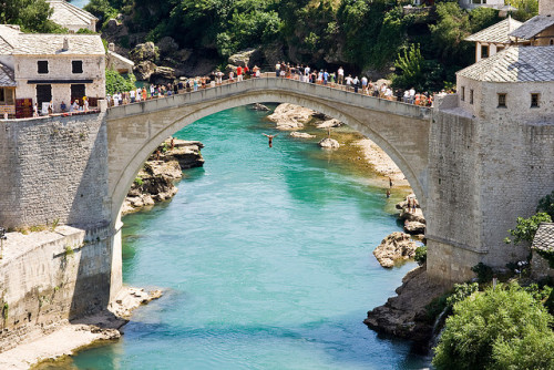fyeaheasterneurope:  Diving from the Stari Most in Mostar, Bosnia & Herzegovina. NOT an Olympic sport. Yet.
