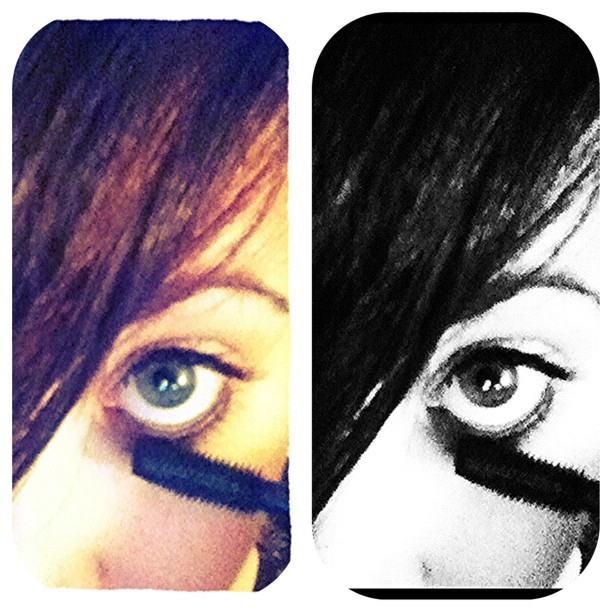 #photography #iphonography #me #face #eye #hazel #iris #piercing #makeup #pretty #skin #color #blackandwhite #edit #stuckintime (Taken with Instagram)
