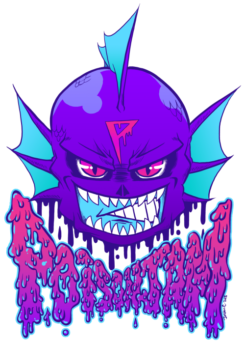 commission for a friend! he wants to turn this into a patch he can put on the back of one of his leather jackets and i think thats the coolest shit. if all goes well, he'll be wearing this at NYCC this year!