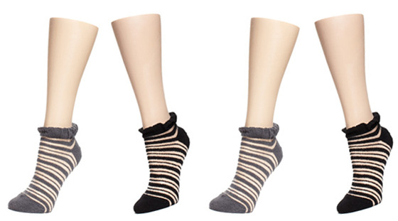 august's sock of the month is our boucle stripe anklet! special sale price $7.00