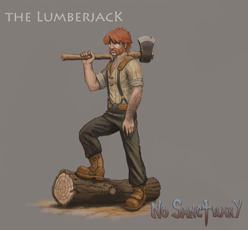 Lumberjacks are as their name implies responsible for the harvesting and transporting of trees. In addition to harvesting they are also responsible for tending to the local forest by replanting trees to keep the forest healthy. Lumberjacks belong to the group of civilians willing to engage in combat with weaker foes, and when they do so they will attempt to dispatch their foe with a few swings of their heavy axe. If the settlement is under attack they will engage powerful opponents as well, despite lacking the combat ability of the designated guards.