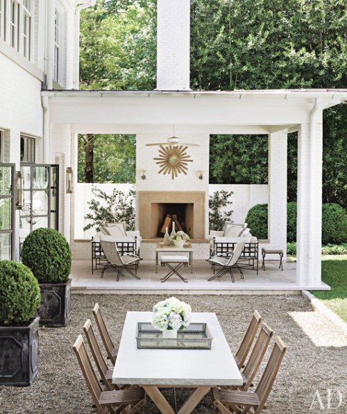 contemporary white outdoor