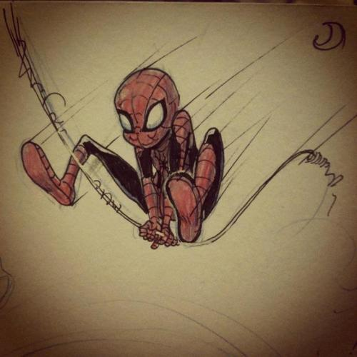 Another drawing of spidey colour/ink by my Matthew