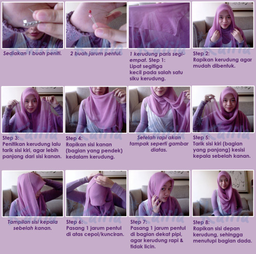 Hijab Tutorial by *Kalila