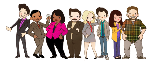sharpiehero:  Parks & Rec DOLLIFIED! So I meant to upload a group shot back when I was doing all of these but I never finished Chris, Jerry or Anne and never wanted to :c As much as I adore Rashida I think I found the rest all boring to draw (and who cares about Jerry, really?) So here's the ones that I did dollify (AND HEY LOOK AT RON AND DONNA!!!)