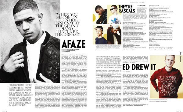thebookagency:  Jeanie Annan-Lewin styles Fazer, Rascals and Ed Drewett for Rollacoaster. Photography by Chad Pickard & Paul Mclean.  First assistant styling gig.