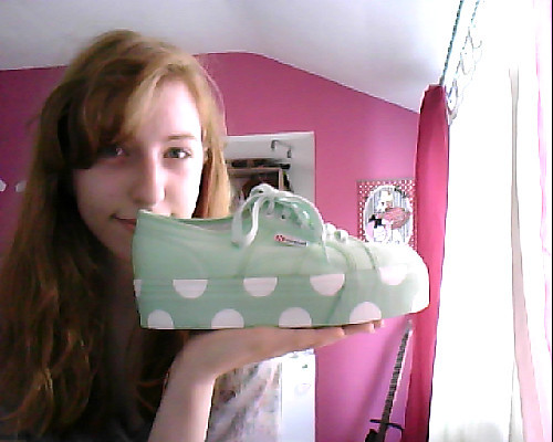 pastelraindrops:  pastelraindrops:  Hellow~~ I'm selling my Superga platform sneakers from their collaboration with House of Holland!These are brand new and were only tried on by me but I have to sell them because they're simply too big! I'm getting them a size smaller now so I have no use for these babies anymore. They come in the mint green shade and are labeled as a size 39,5. But these run very big! I usually wear a size 39 and thought these would be ok (they don't come in a straight 39 but the 38 fits exactly like one) but I'd say these should actually fit a 40 or possibly a 41 much better. They measure about 25,8cm in the insole, just in case you are wondering if they would fit you. My asking price is 70€ plus shipping (I do ship worldwide and accept Paypal only).If you're interested in buying them, please message me directly here or drop me an E-Mail over here-> pastelraindrops (at) web.de Trust me, those shoes are absolutely darling and if they fit you, you will LOVE them. I know I'm madly in love with mine ♥  push push pushhh~ ♥