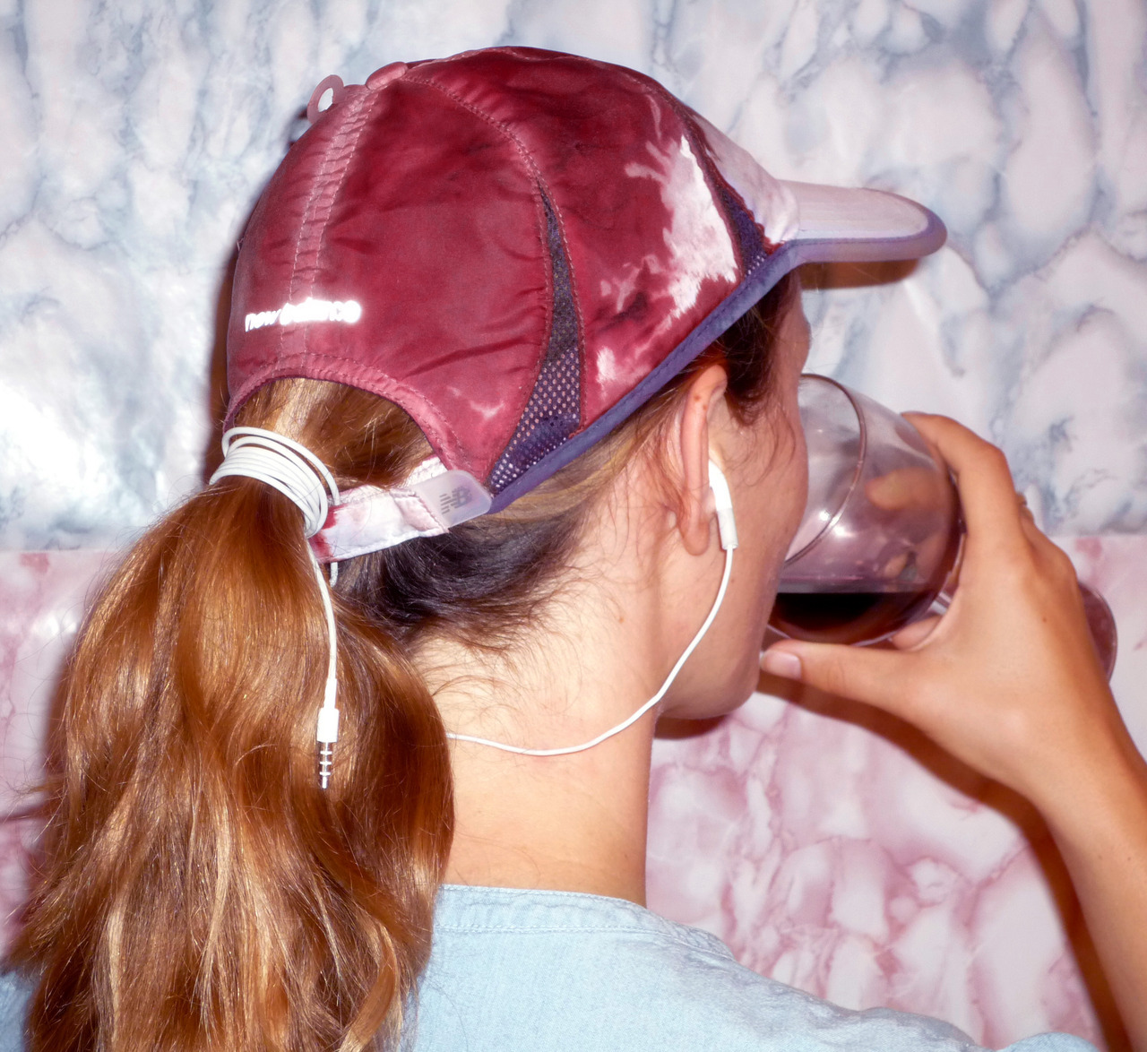 Pomegranate-stained runner's cap worn at wine-tasting, 2012 Performance Ω™