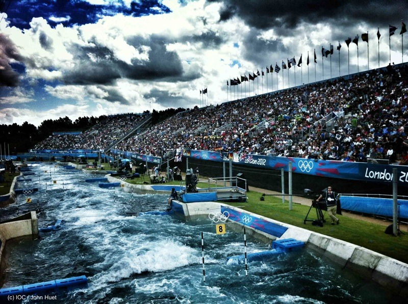 olympics:  Moody waters at #canoeslalom