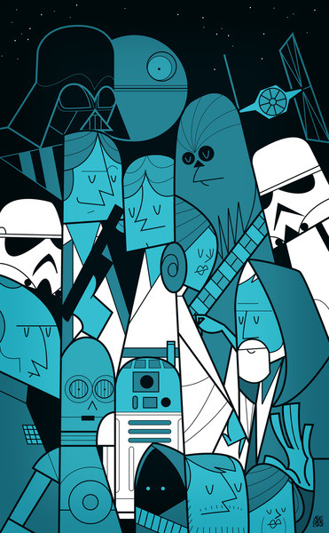 tiefighters:  Star Wars Created by Ale Giorgini Prints available at Society6