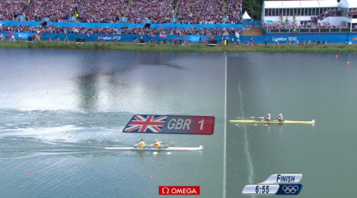 GOLD NUMBER SIX FOR GREAT BRITAIN!!! Katherine Grainger and Anna Watkins win the women's double sculls final!