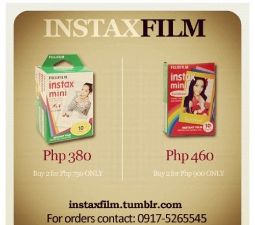 instaxfilm:  INSTAXFILM PRICE LIST  We're back!!