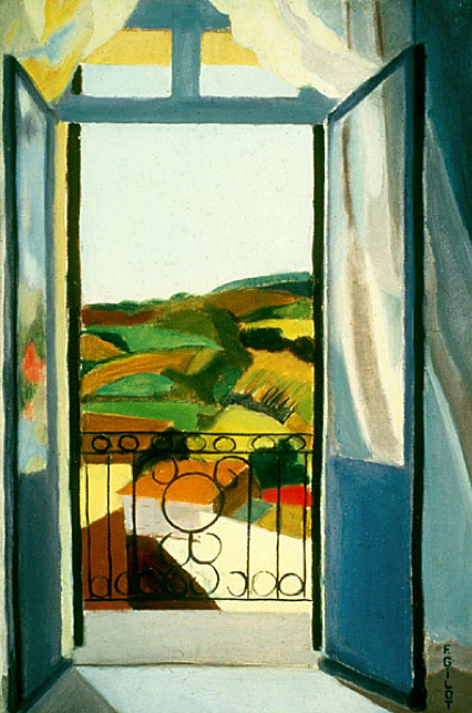 Francoise Gilot French Window in Blue, 1939