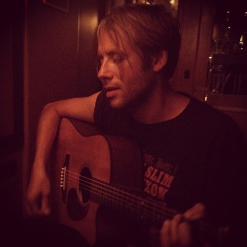 @GeoffRickly singing at our last late night #bus13 jam session. We were in an accident just a couple hours later. We're all safe and on different buses now. #WarpedTour (Taken with Instagram)
