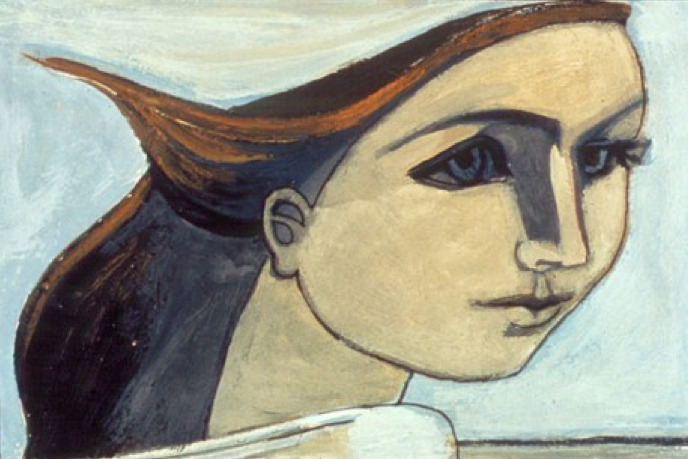Francoise Gilot Self Portrait (Figure in the Wind), 1944Oil on canvas,8 x 13 in. (22 x 33 cm.)Collection Paloma Picasso, London