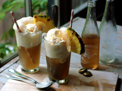 Pineapple Ice Cream Floats