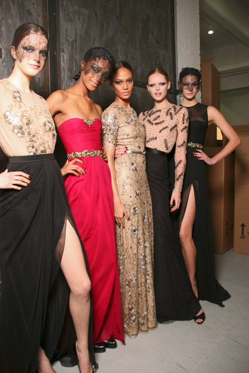 w-i-l-d-r-o-s-e-s:  Jason Wu Fall 2011/2012 backstage Mirte, Jourdan, Joan, Frida and Karlie