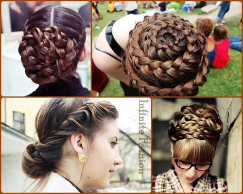 Many beautiful braids… this makes me want to grow out my hair just to braid it.