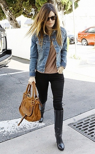 Covet: the denim jacket Rachel Bilson knows how to team it right (loving the Marcie by Chloe)