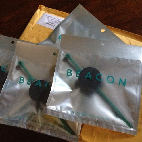 My Beacon Bike Lights (the results of an awesome, Toronto-based #Kickstarter campaign) (Taken with Instagram in Parkdale)