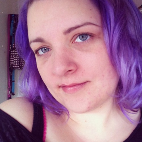 #me #selfportrait #purplehair #lilachair #purple #girl #woman #pastelhair (Taken with Instagram)