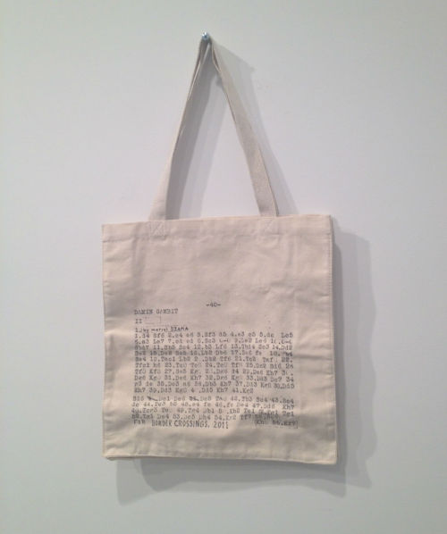 totebagreviewsreviews:  Marcel Dzama totebag, at David Zwirner gallery's pop-up book store.