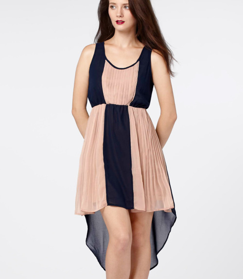 This etherial Grecian contrast pleat dress is here just in time for the Olympics!