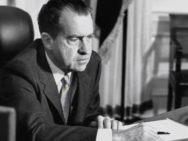 pbsthisdayinhistory:  August 8, 1974:  President Nixon Announces Resignation On this day in 1974, in a radio and television broadcast from the Oval Office, Richard Nixon announced that he was resigning as President of the United States. His decision arose from the near-certain threat of impeachment following the Watergate Scandal. Read Nixon's resignation speech here.