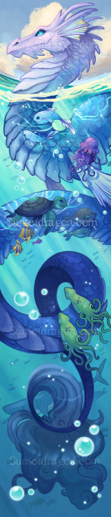I can share my Sea Dragon with you now! Happy Friday!  Sea Dragon!!! Sorry for the obnoxious watermark, but this dragon is featured exclusively on my art scarves for sale and I do not want him stolen!  Art scarves will be available online in a little over a month. More details when they are up. For now please check out my current etsy store And follow me on facebook!