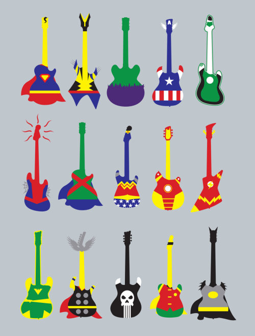 geeksngamers:  Guitar Heroes - by Jonah Block On sale at society6