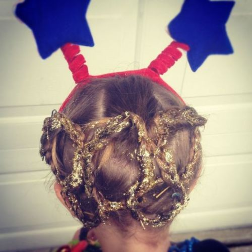 this little girl is awesome. (via Olympic hair - CNN iReport)