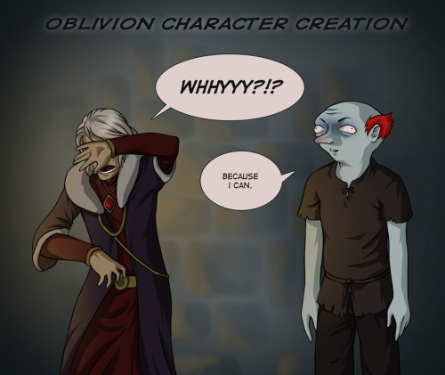 Oblivion: Character Creation by *TheMinttu Soooo true xDD