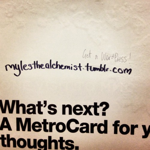 balltillifall:  Blog politics in the Greenpoint G station. (Taken with Instagram)