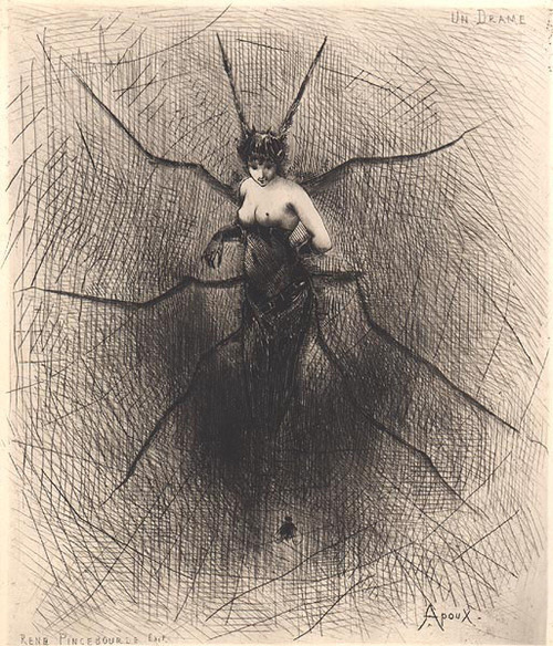 Un Drame by Joseph Apoux, 1890s (from Reveries Fantastiques)