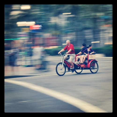 Pedicab in downtown New Orleans. (Taken with Instagram)