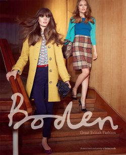 Boden Autumn Campaign. Tweet us at @bodenclothing with #Stopthepress for the chance to win!