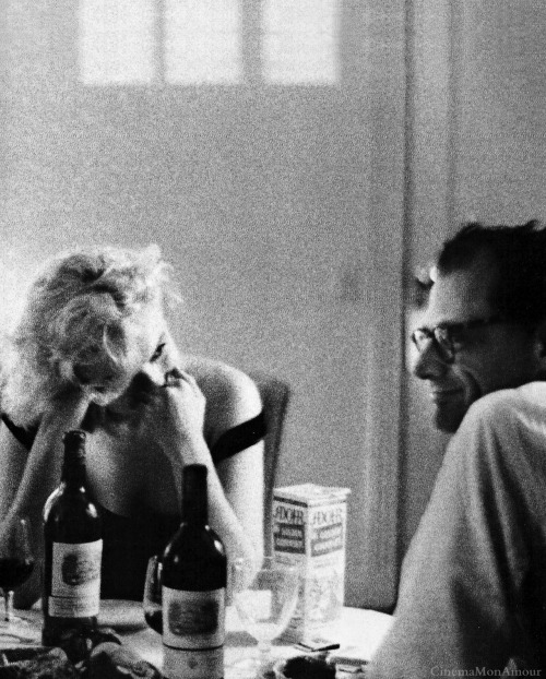 Marilyn Monroe and Arthur Miller. Beverly Hills, California 1960.