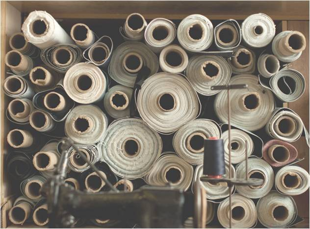 Inspirational story about an accidental artist: anthropologie: Stacks of rolled denim pictured at Roy Slaper's workshop. Roy is a self-taught denim smith who makes blue jeans by hand. Learn more about him and his craft here. Via: Grain & Gram