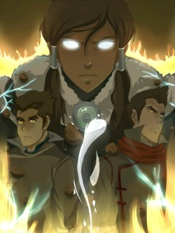youngjusticer:  The Fire Ferrets. Team Avatar, by Yesim Tekin.