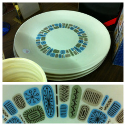 Temporama dinner plates. #LeftBehind #ThriftBreak