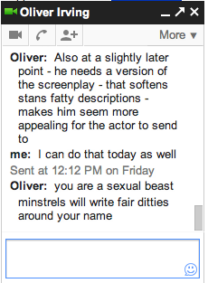 This is why I work with Oliver (among other reasons).
